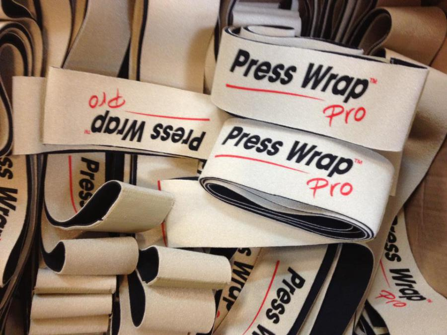 Number of different Press Wrap bandages wrapped together